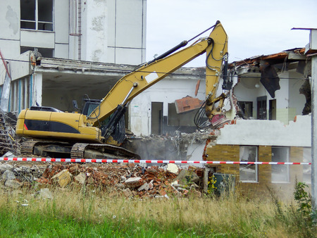 Building demolition 스톡 콘텐츠