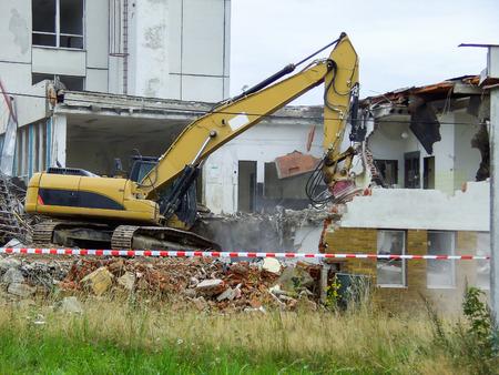 Building demolition Archivio Fotografico
