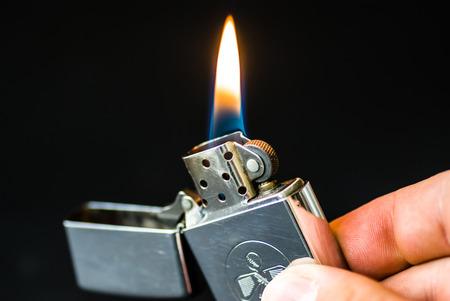 Burning lighter