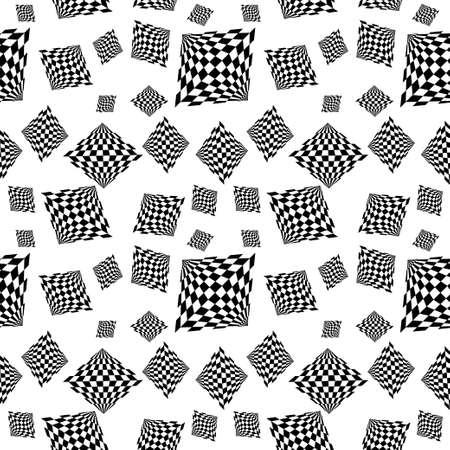 Pattern of geometric shapes.Texture with flow of spectrum effect. Geometric background. Ilustração