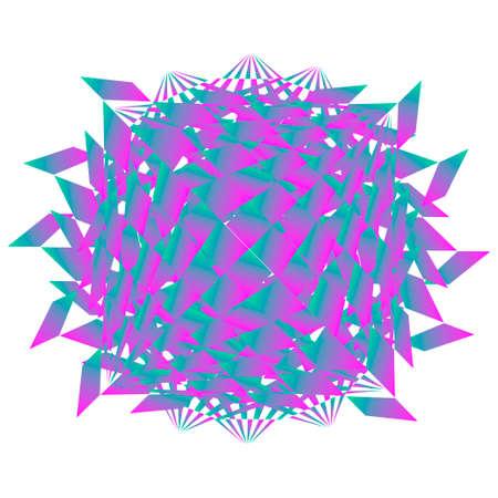 Abstract geometric creature on white background. Ilustração