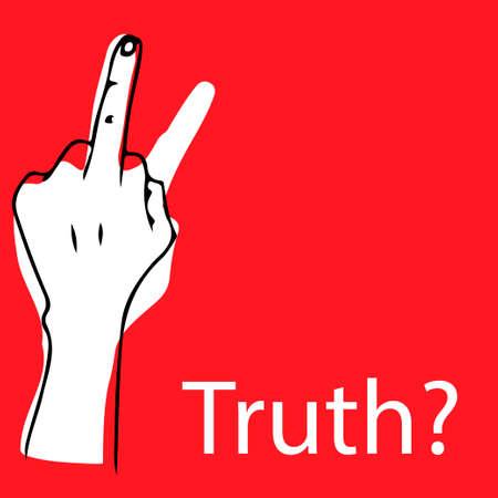 Vector illustration of truth concept, red poster. Ilustração