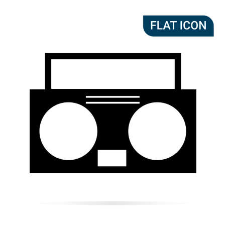Tape recorder icon in trendy flat style isolated on white background. Symbol for your design, logo, UI. Vector illustration, EPS10.