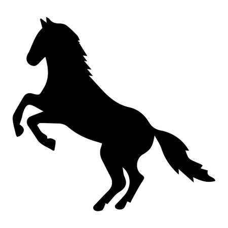 Vector illustration of horses silhouette on white background. Element for design. Vetores