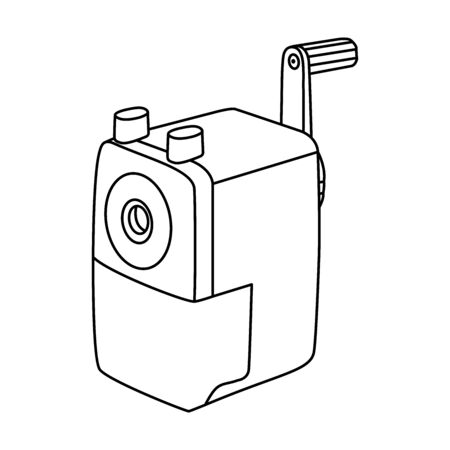 Automatic pencil sharpener icon line symbol. Premium quality isolated sharpen element in trendy style.