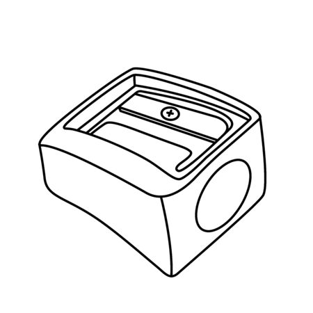 Pencil sharpener icon line symbol. Premium quality isolated sharpen element in trendy style. Ilustrace
