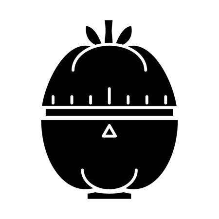 Vector illustration of timer and tomato sign. Web element of timer and clock stock vector illustration