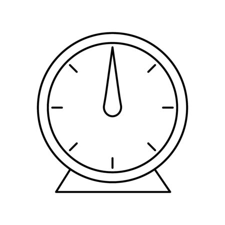 Glossy vector illustration of an analog 60-minute timer.