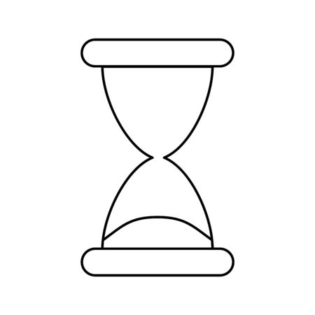 Vintage hourglass sandglass timer or clock flat vector icon for apps and websites. Vetores
