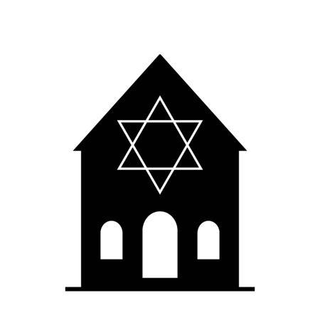 Star of David icon. Six pointed geometric star figure, generally recognized symbol of modern Jewish identity