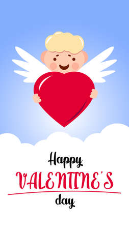 Slogan for you. Love banner with heart symbol. Love heart month or happy singles day background. Happy valentines day on february 14