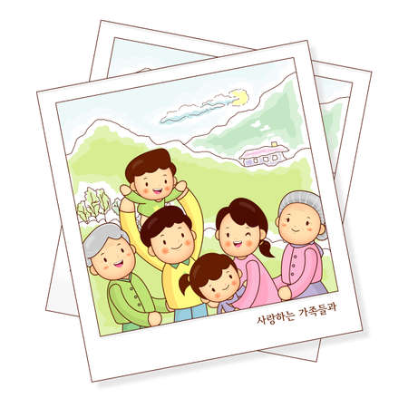 Memories of family photos  Vector