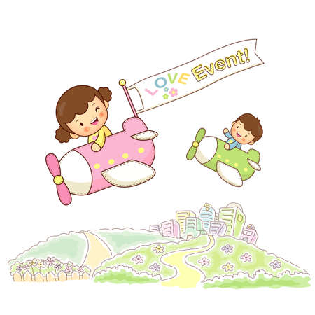 Children sky travel