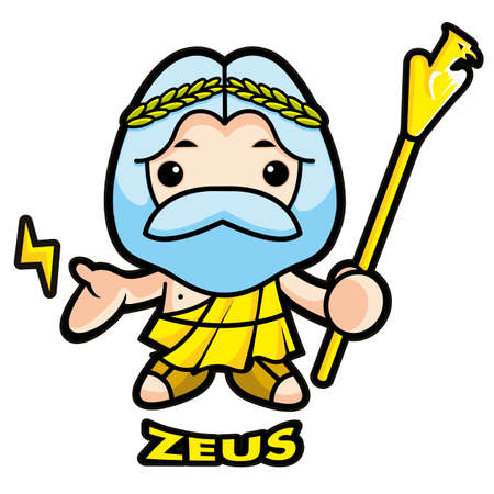 Of sky and thunder god Zeus Vector
