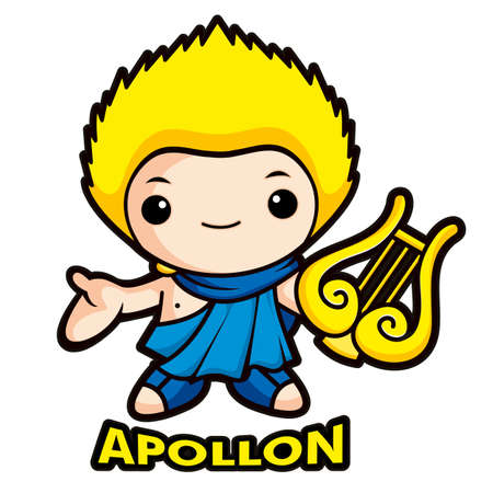 Apollo, the god of the sun Vector