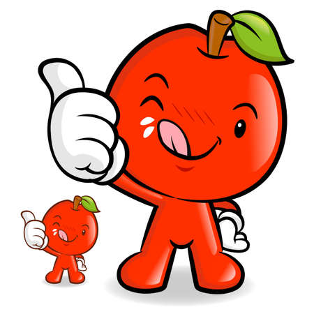 Delicious red Apple Character Vector