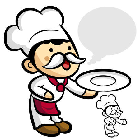 Worry that Chef Character Stock Vector - 15502327