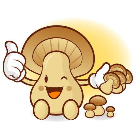 To Promote the Mushroom  Illustration