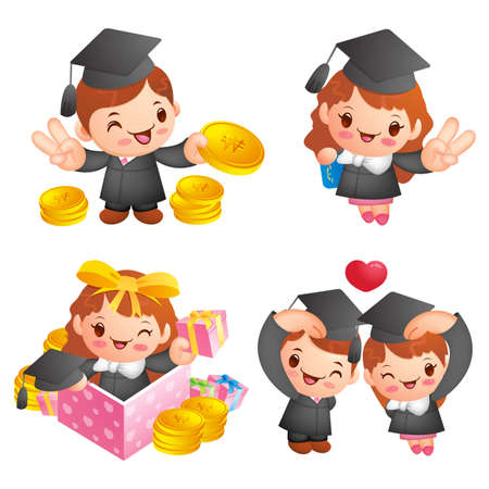 Graduation related event character Vector
