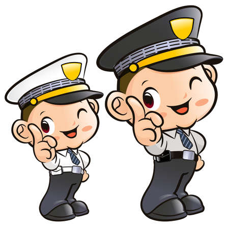 Instructions to the Police Characters Vector