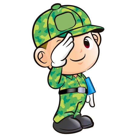 Salute to the Soldier Character Stock Vector - 15502354