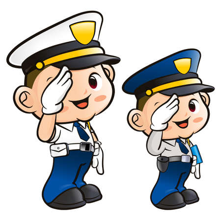 Salute to the Police Character Stock Vector - 15502362