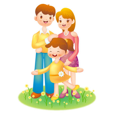 Happy Family Stock Vector - 15464810
