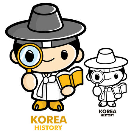 Scholars studying the history of Korea, Korean History Vector