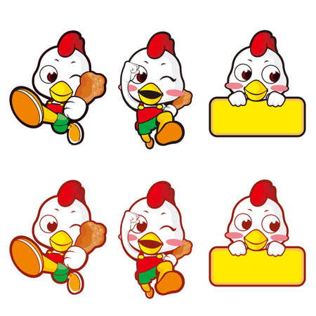 Shop for promoting a chicken  Hen Character Stock Vector - 15464783