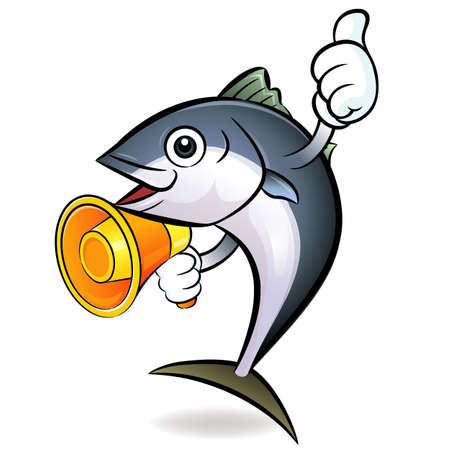 The loudspeaker is to promote to the tuna  Tuna Character Vector