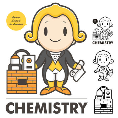 Lavoisier the father of modern chemistry  Lavoisier, Antoine Character Vector