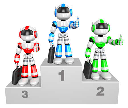 Awards Ceremony of Business Robot  3D Business Character photo