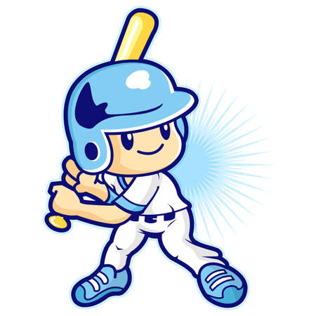 Hitter in a baseball game, Sport Games Character Design Vector