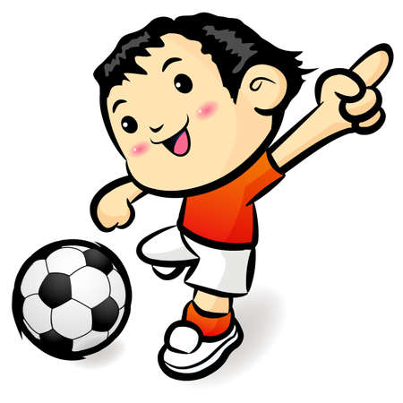 Soccer games football player character. Sports Character Design Vector