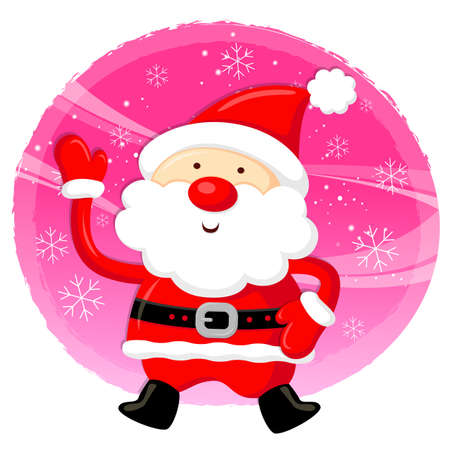 Santa Claus Mascot using a variety of banner designs  Christmas Character Design Series  Vector