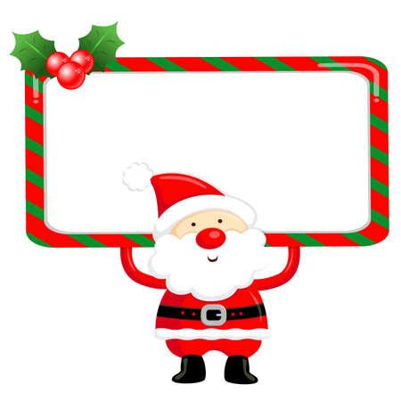 Santa Claus Mascot using a variety of banner designs  Christmas Character Design Series  Stock Vector - 16323171