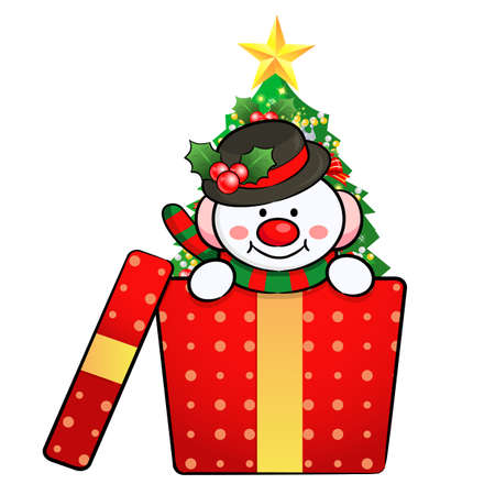 Snowman Mascot the event activity  Christmas Character Design Series  Vector