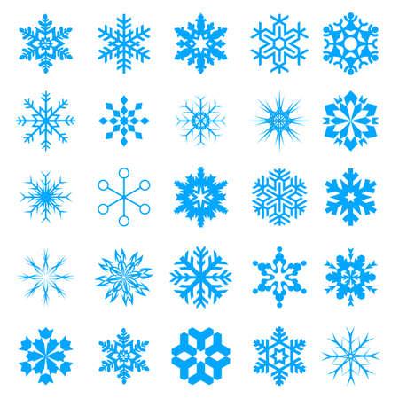 Snow crystal icon sets  Creative Icon Design Series  Stock Vector - 16938619