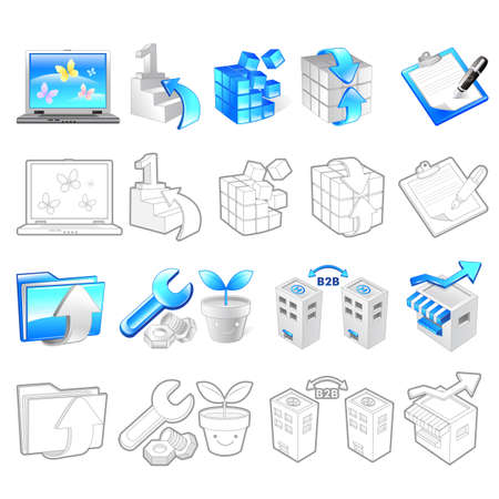 Internet business Icon sets  Creative Icon Design Series  Stock Vector - 16938784