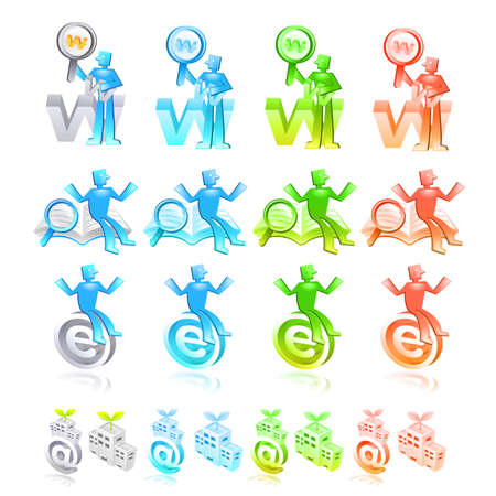 Internet business Icon sets  Creative Icon Design Series  Stock Vector - 16938900