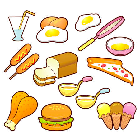 A wide variety of Foods Icons sets  Creative Icon Design Series  Stock Vector - 16938687