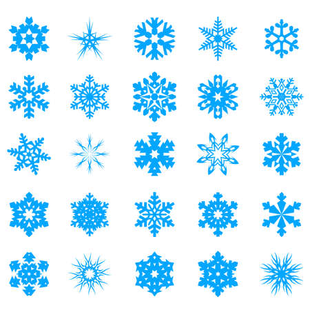 Snow crystal icon sets  Creative Icon Design Series  Stock Vector - 16938616
