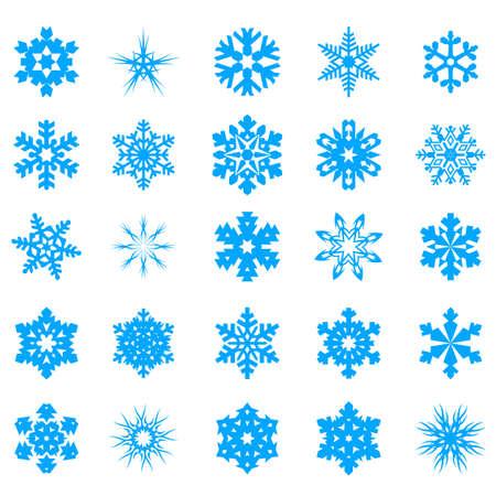 Snow crystal icon sets  Creative Icon Design Series  Stock Vector - 16938616
