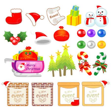 Christmas decorative Icons sets  Creative Icon Design Series  Stock Vector - 16938853