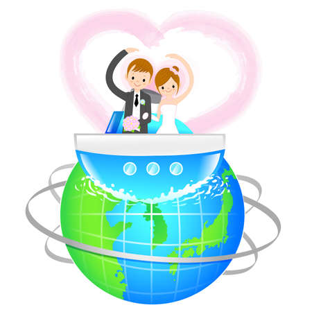Man and Woman the Love a honeymoon  A couple of Love Character Design Series  Stock Vector - 17548271