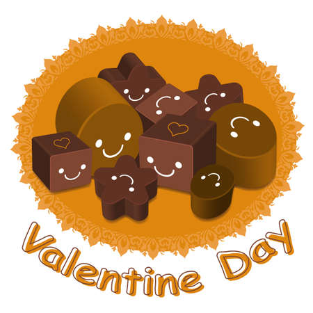 Variety of chocolate collection  Valentine Character Design Series  Stock Vector - 17548263