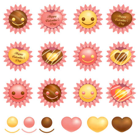 Various packing chocolate  Valentine Icon Design Series  Stock Vector - 17548276
