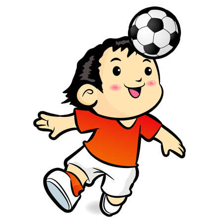 Soccer players mascot ball stunts Beak  Sports Character Design Series  Stock Vector - 18365395
