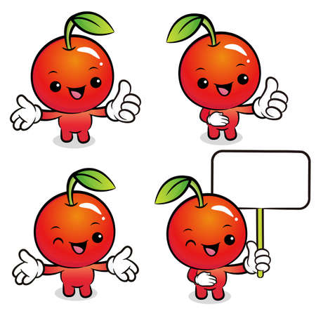 Flexibility as possible a set of Apple Mascot  Food and Market Character Design Series  Vector