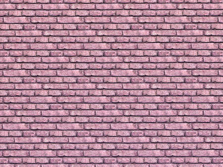 Vintage Pink color brick wall background. Brick Textures Series photo